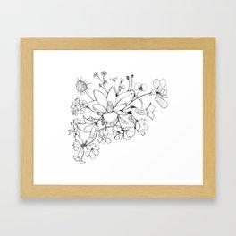 Native Florida Flowers Framed Art Print