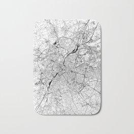 Brussels White Map Bath Mat