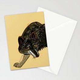 Black wolf totem (Canis lupus nubilus) (c) 2017 Stationery Cards
