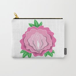 Womens Rose Vagina Womens Shirt Pussy Flower Pussies Vag Puss Gift Carry-All Pouch