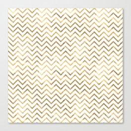 Gold Zig Zag Pattern Canvas Print