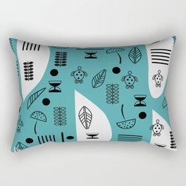 Little turtles and mushrooms Rectangular Pillow