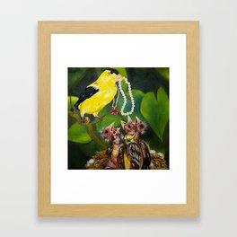 Feeding the Young Framed Art Print