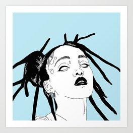 Video Girl Art Print
