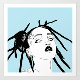 Video Girl Art Print