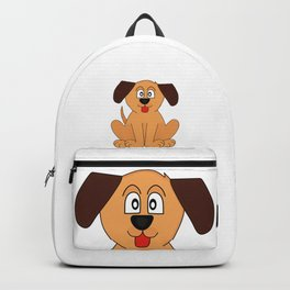 Cute Happy Tongue Dog Backpack