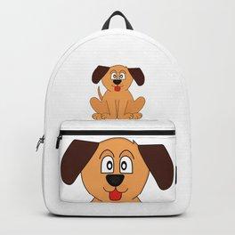 Cute Happy Tongue Dog Backpack