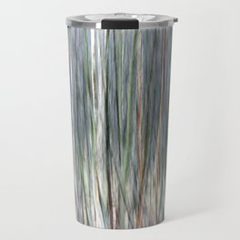 Abstract forest; intentionally blurred by camera shake Travel Mug
