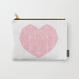 Geometric Heart Carry-All Pouch