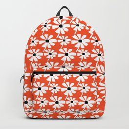 Daisies In The Summer Breeze - Orange White Black Backpack