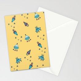 Boys Galaxy Rocket Space Stationery Cards