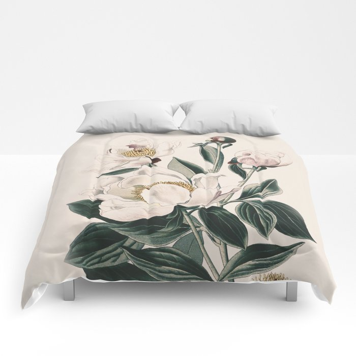Flower Near Me 18 Vintage Comforters By Draw4you Society6