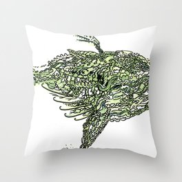 whale wings Throw Pillow