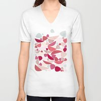 bed V-neck T-shirts featuring Sea Bed by Nic Squirrell