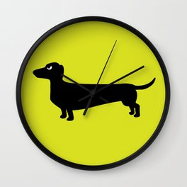 Angry Animals: Dachshund Wall Clock