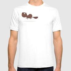 Beaver MEDIUM Mens Fitted Tee White
