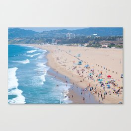 Santa Monica Beach I Canvas Print
