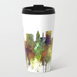 Baltimore, Maryland Skyline - SG - Safari Buff Travel Mug