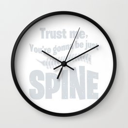Chiropractor Bone Profession Just Spine Funny Gift Wall Clock