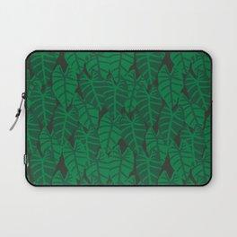 Elephant Ear house plant tropical garden green minimal pattern Laptop Sleeve