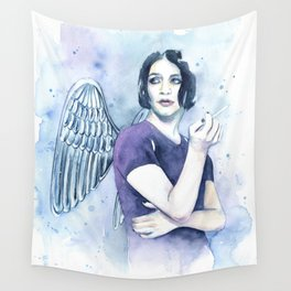 Smoking Angel Wall Tapestry