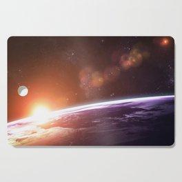 Earth and Rising Sun Cutting Board