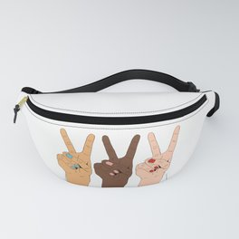Peace Hands Cartoon Fanny Pack