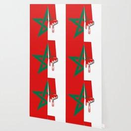 Painter Moroccan flag Wallpaper