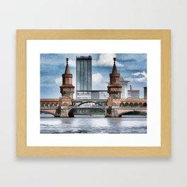 Oberbaum Bridge, Berlin Framed Art Print