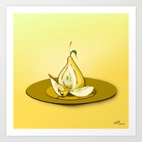 pear Art Prints featuring Pear by dBranes