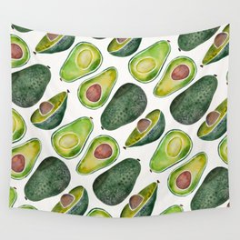 Avocado Slices Wall Tapestry