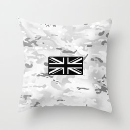 British Flag: Arctic Camouflage Throw Pillow