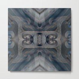 Crystal Glass Metal Print