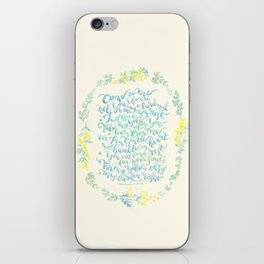 Come to Me - Matthew 11:28-30 iPhone Skin