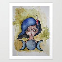 The Moon In Her Eyes Art Print