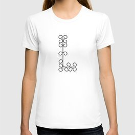 "Letter ""L"" in beautiful design Fashion Modern Style T-shirt"