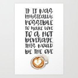 Gilmore Girls Typography // Coffee Love Art Print