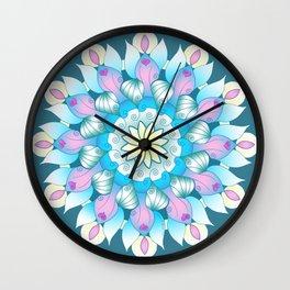 Angels Among Us Mandala Wall Clock