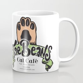 Toe Beans Cat Cafe Logo Coffee Mug