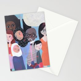 WHY AM I ME? SUBWAY SCENE Stationery Cards