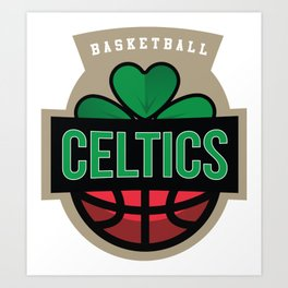 Brady Celtics Uniform Art Print
