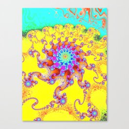 Tropical Octopus Fractal Canvas Print