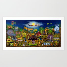 The Curled Shoe Carnival Art Print