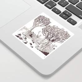 Quiver Tree Forest - Namibia Sticker