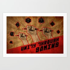 Unity Through Gaming! Art Print