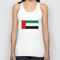 arab Tank Tops featuring United Arab Emirates country flag by tony tudor