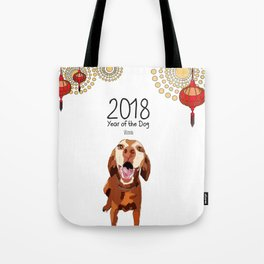 Year of the Dog - Vizsla Tote Bag
