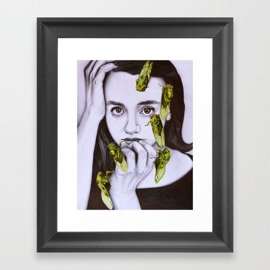 cicadas Framed Art Print