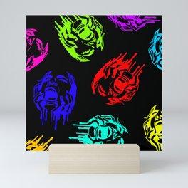 Scream in Rainbow Mini Art Print