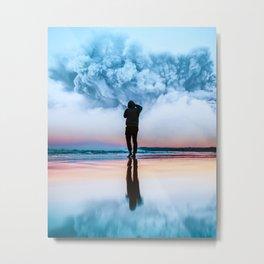 Blue Cloud Metal Print